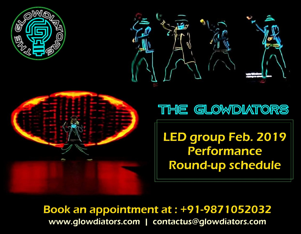 Tron dance India Group Glowdiators